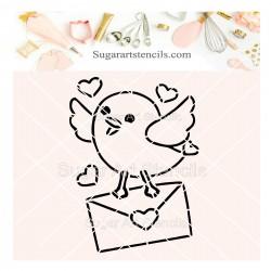 Valentine's day letter bird...