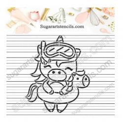 Summer unicorn PYO Cookie...