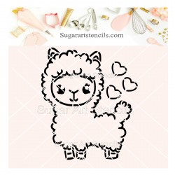 Valentine's day llama PYO...