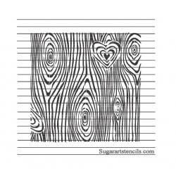 Wood grain heart stencil...