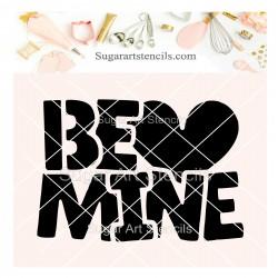 Be mine cookie stencil SV122