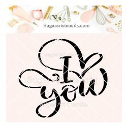 I love you cookie stencil...