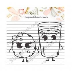 Milk and cookie PYO Stencil...