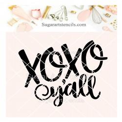 XOXO cookie stencil SV132