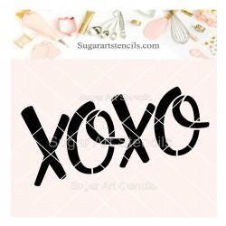 XOXO cookie stencil SV138