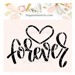 Forever cookie stencil J0026