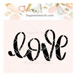 Love word cookie stencil J0029
