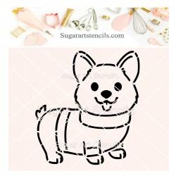 Dog corgi PYO cookie...