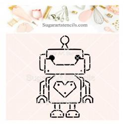 Robot PYO cookie Stencil J0068