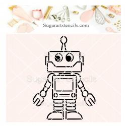 Robot PYO cookie Stencil J0070