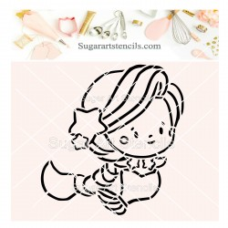 Mermaid PYO cookie Stencil...