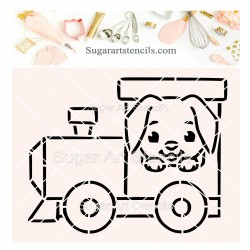 Dog locomotive PYO cookie...
