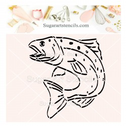 Fishing cookie stencil fish...