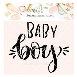 Baby boy cookie stencil...