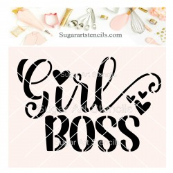 Girl boss cookie stencil...