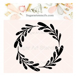 Wreath cookie stencil J0011