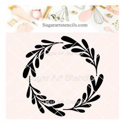 Wreath cookie stencil J0011