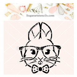 Hipster bunny PYO cookie...