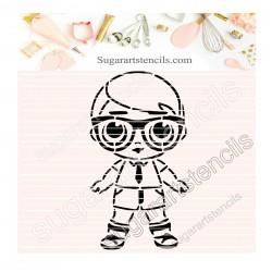 Doll boy PYO cookie Stencil...