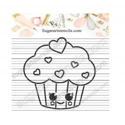 cupcake kawaii PYO cookie...