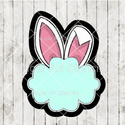 Easter bunny ears plaque...