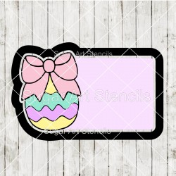 Easter egg plaque cookie...