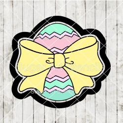 Easter egg with a bow...