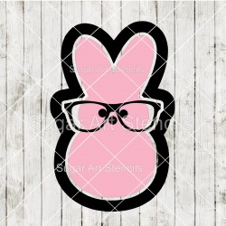 Easter hipster peeps cookie...