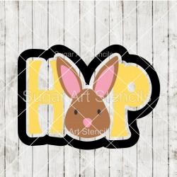 Easter bunny HOP word...