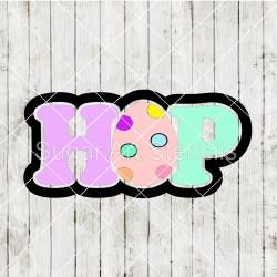 Easter egg HOP word cookie...