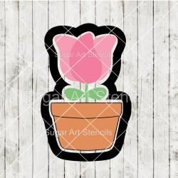 Spring tulip in a pot...
