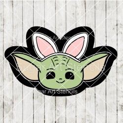 Easter baby Yoda with bunny...