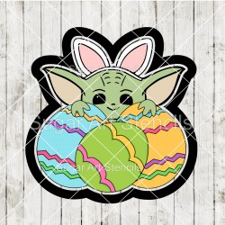 Easter baby Yoda with eggs...