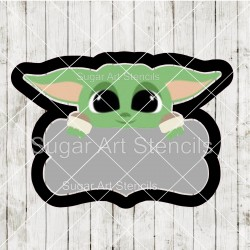 Baby Yoda plaque cookie...