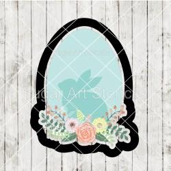 Easter floral egg cookie...