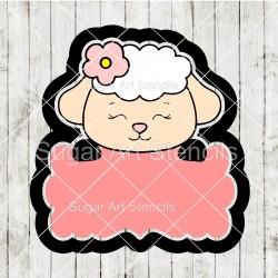 Easter lamb plaque cookie...