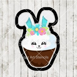 Easter bunny cupcake cookie...