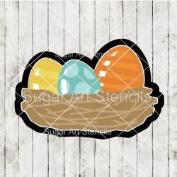 Easter eggs nest cookie...