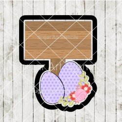 Easter eggs wood sign...