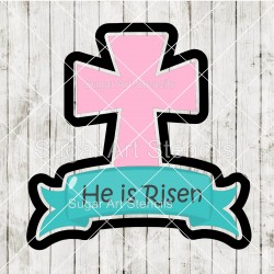 Cross with a banner cookie...