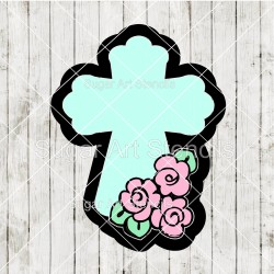 Floral Cross cookie cutter...