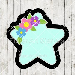 Floral star cookie cutter...