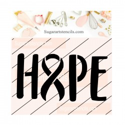 Awareness ribbon Hope word...