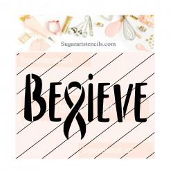 Awareness ribbon Believe...