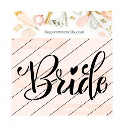 Bride cookie stencil JB53