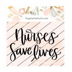 Nurses save lives cookie...