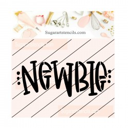 Newbie baby cookie stencil...