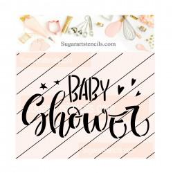 Baby shower cookie stencil...