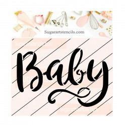 Baby cookie stencil JB73