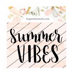 Summer vibes cookie stencil...